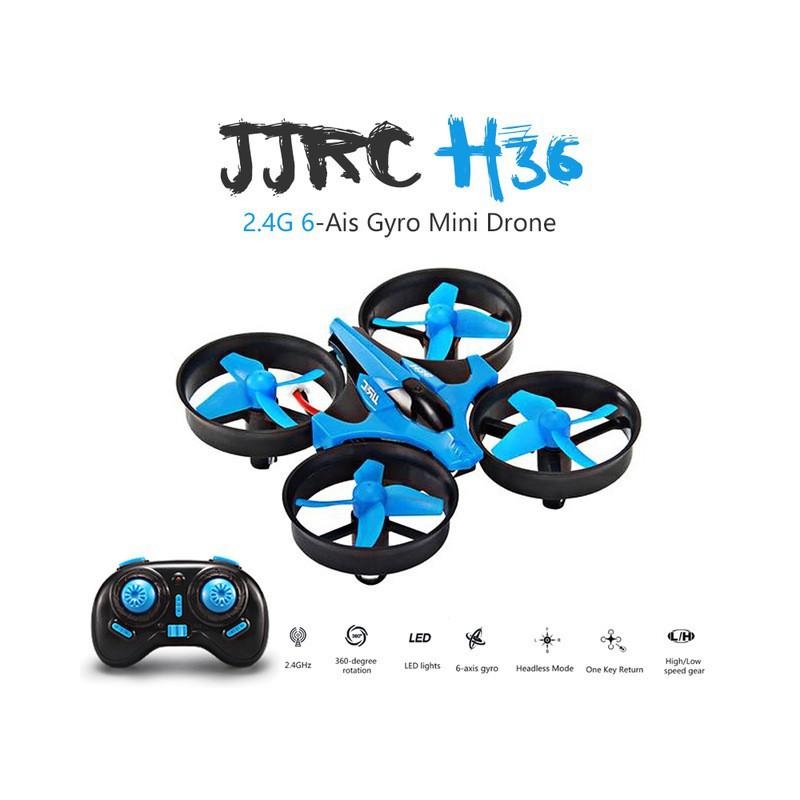 Dron RC JJRC H36 MINI Stabilizator Autopowrót Axis Headless Niebieski - VivoSklep.pl