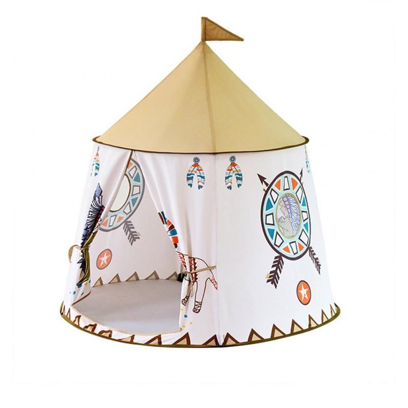 Namiot Domek dla Dzieci TIPI WIGWAM Indiański do Domu Ogrodu 110CM – VivoSklep.pl