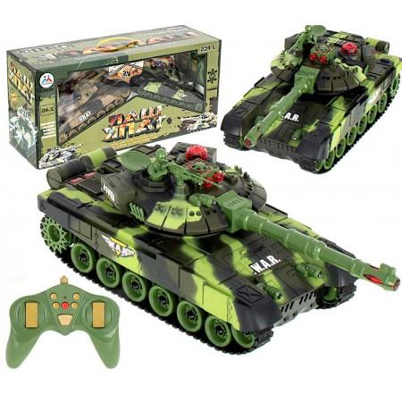 Czołg RC 9993 War Tank Zdalnie Sterowany Na Podczerwień 2,4Ghz Zielony Kamuflaż Leśny - VivoSklep.pl