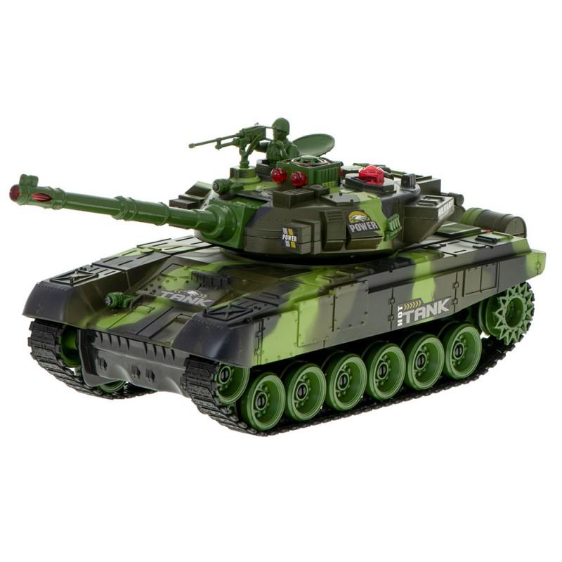 Czołg RC 9995 Big War Tank Duży Zdalnie Sterowany 2,4 Ghz Leśny Zielony - VivoSklep.pl