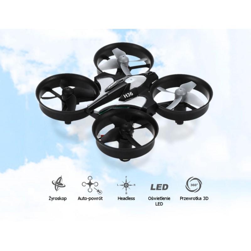 Dron RC JJRC H36 MINI Stabilizator Autopowrót Axis Headless Czarny - VivoSklep.pl