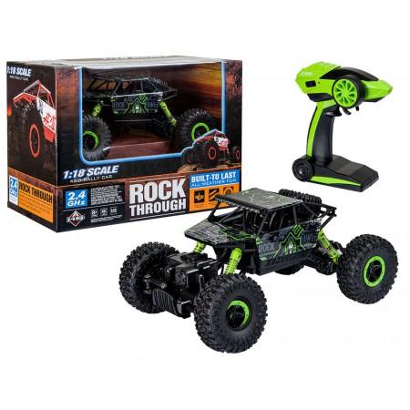 Samochód RC ROCK CRAWLER HB Toys 1:18 Terenowy Zdalnie Sterowany 2,4Ghz Zielony – VivoSklep.pl