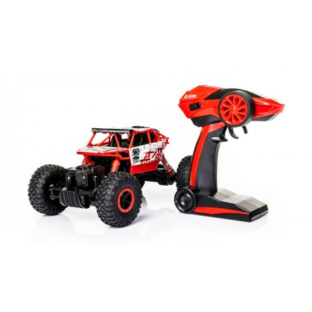 Samochód RC ROCK CRAWLER HB Toys 1:18 Terenowy Zdalnie Sterowany 2,4Ghz Czerwony - VivoSklep.pl