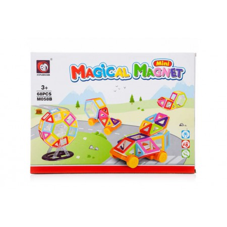 Klocki Magnetyczne Mini MAGICAL MAGNET 68 Sztuk M058B Kolorowe - VivoSklep.pl
