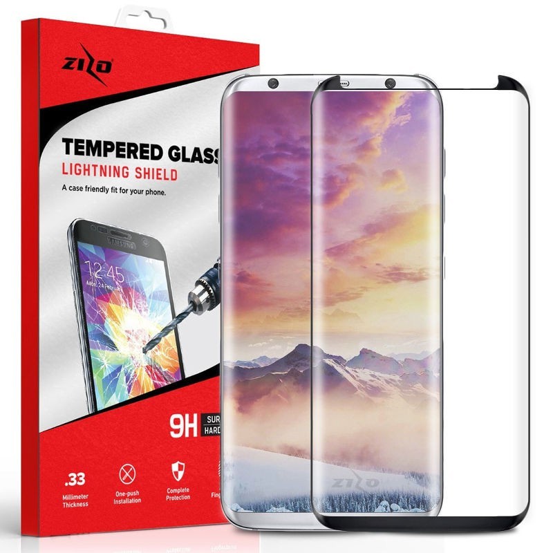 Szkło Hartowane Zizo Full Edge to Edge Samsung Galaxy S8 Czarna Ramka - VivoSklep.pl