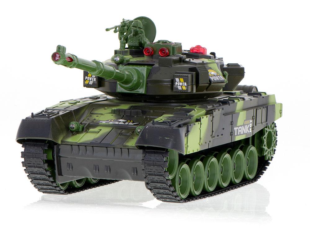 Czołg RC 9993 War Tank Zdalnie Sterowany Na Podczerwień 2,4Ghz Zielony Kamuflaż Leśny - VivoSklep.pl 6