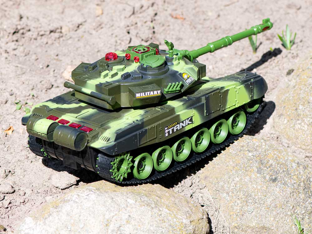 Czołg RC 9993 War Tank Zdalnie Sterowany Na Podczerwień 2,4Ghz Zielony Kamuflaż Leśny - VivoSklep.pl 14