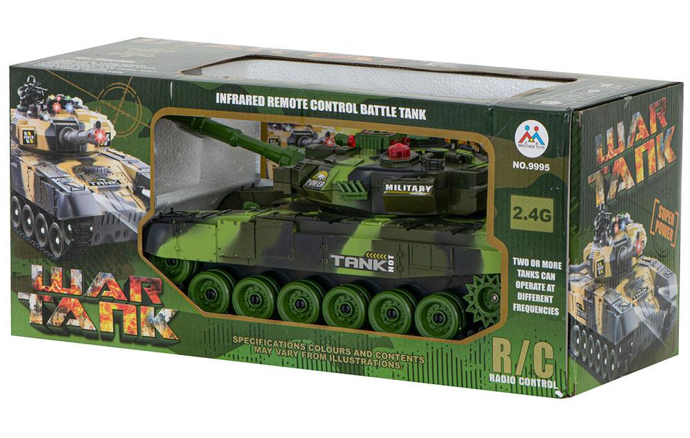 Czołg RC 9993 War Tank Zdalnie Sterowany Na Podczerwień 2,4Ghz Zielony Kamuflaż Leśny - VivoSklep.pl 18