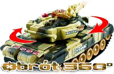Czołg RC 9995 Big War Tank Duży Zdalnie Sterowany 2,4 Ghz Leśny Zielony - VivoSklep.pl 7