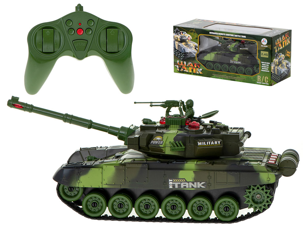 Czołg RC 9995 Big War Tank Duży Zdalnie Sterowany 2,4 Ghz Leśny Zielony - VivoSklep.pl 1