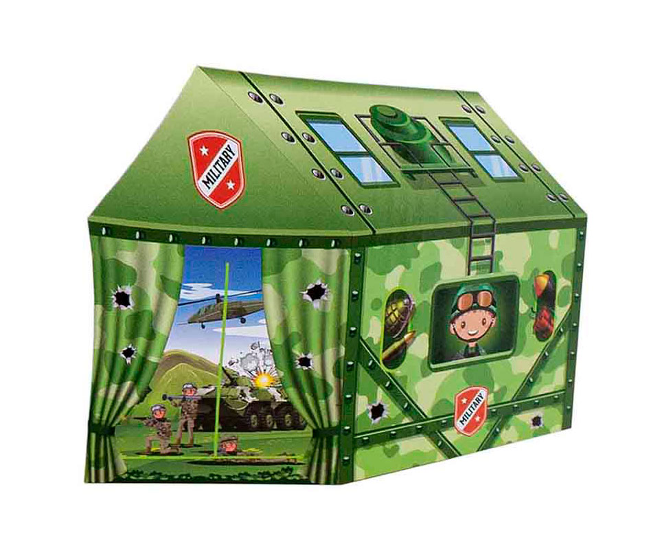 Domek Wojskowy Namiot dla Dzieci do Domu Pokoju Ogrodu Zielony – VivoSklep.pl 1
