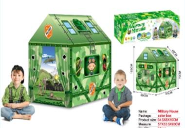 Domek Wojskowy Namiot dla Dzieci do Domu Pokoju Ogrodu Zielony – VivoSklep.pl 10