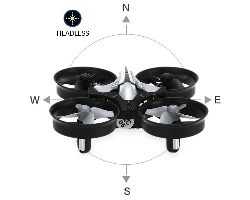 Dron RC JJRC H36 MINI Stabilizator Autopowrót Axis Headless Czarny - VivoSklep.pl 18