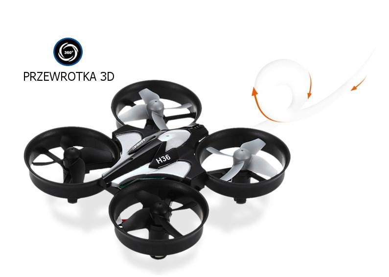 Dron RC JJRC H36 MINI Stabilizator Autopowrót Axis Headless Czarny - VivoSklep.pl 16