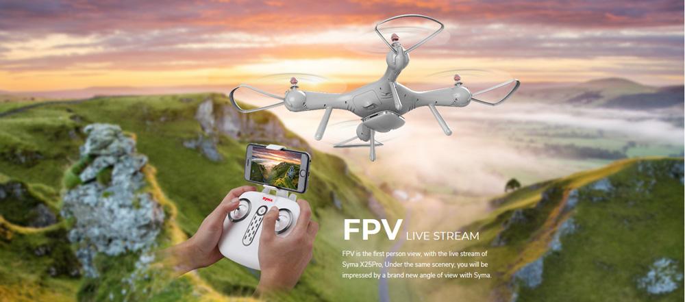 Dron RC SYMA X25 PRO Follow Me z Kamerą Nawigacją GPS - VivoSklep.pl 6