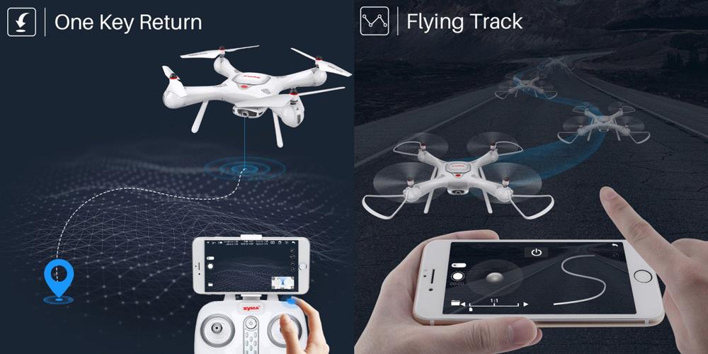 Dron RC SYMA X25 PRO Follow Me z Kamerą Nawigacją GPS - VivoSklep.pl 8