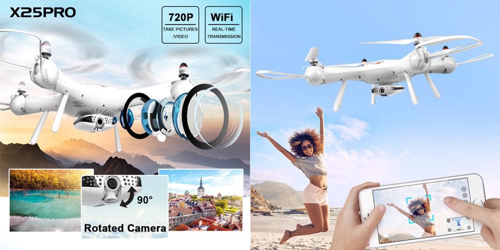 Dron RC SYMA X25 PRO Follow Me z Kamerą Nawigacją GPS - VivoSklep.pl 3