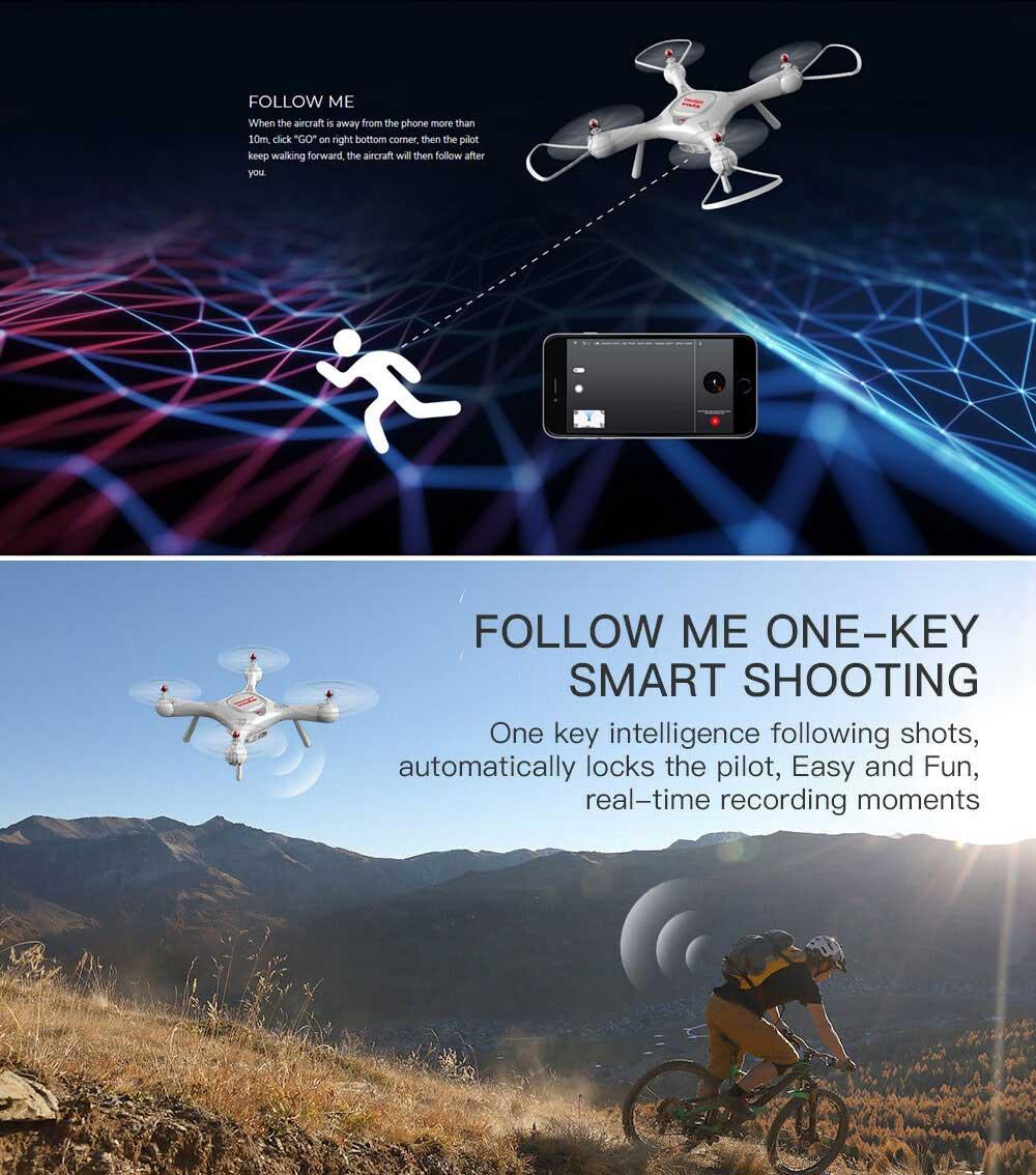 Dron RC SYMA X25 PRO Follow Me z Kamerą Nawigacją GPS - VivoSklep.pl 7