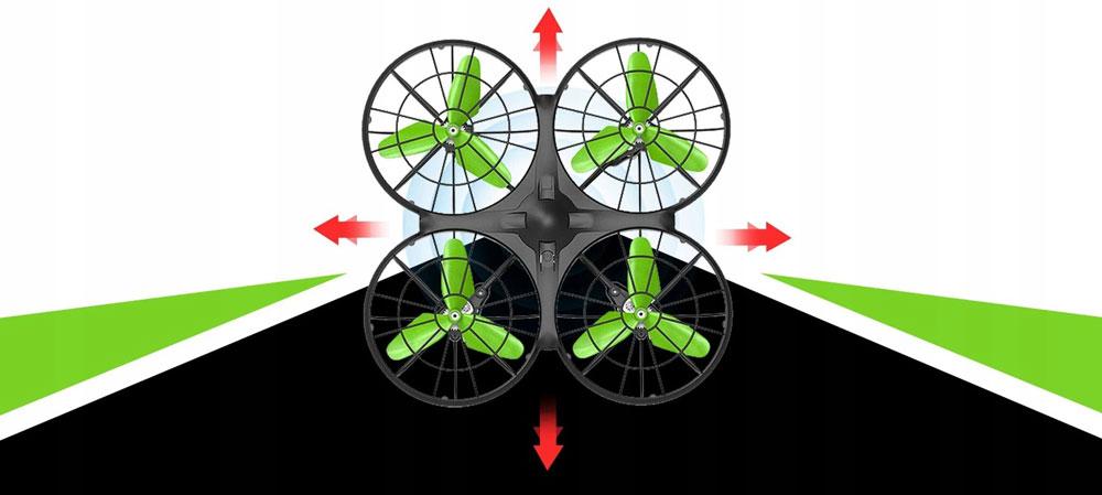 Dron RC SYMA X26 Quadrocopter Zwis Headless Auto Start Omijanie Przeszkód LED - VivoSklep.pl 9