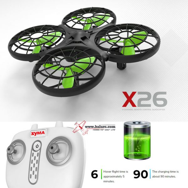 Dron RC SYMA X26 Quadrocopter Zwis Headless Auto Start Omijanie Przeszkód LED - VivoSklep.pl 13