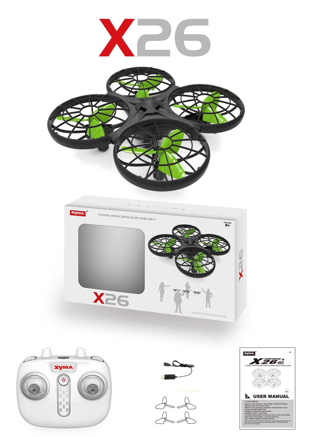 Dron RC SYMA X26 Quadrocopter Zwis Headless Auto Start Omijanie Przeszkód LED - VivoSklep.pl 14
