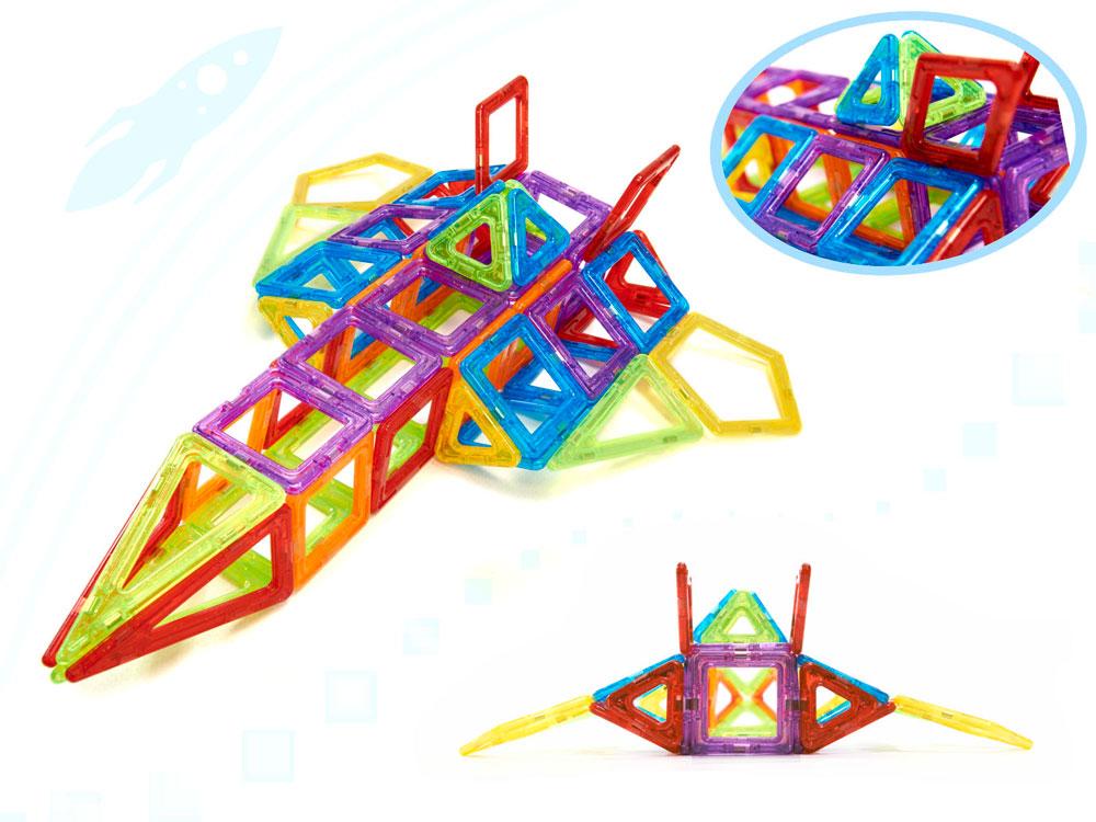 Klocki Magnetyczne MAGICAL MAGNET 158 Sztuk Kolorowe Panelowe - VivoSklep.pl 14