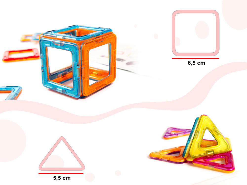 Klocki Magnetyczne MAGICAL MAGNET 52 Elementy Kolorowe - VivoSklep.pl 16