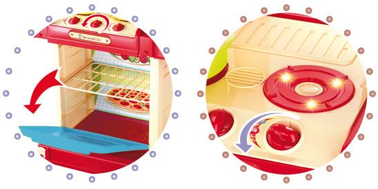 Kuchnia dla Dzieci w Walizce Akcesoria Garnki Sztućce Plastikowa Dźwięki LED – VivoSklep.pl 9