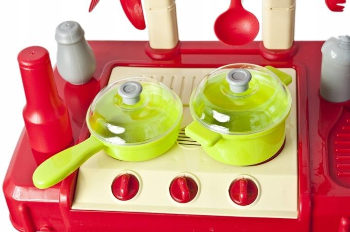 Kuchnia dla Dzieci w Walizce Akcesoria Garnki Sztućce Plastikowa Dźwięki LED – VivoSklep.pl 2