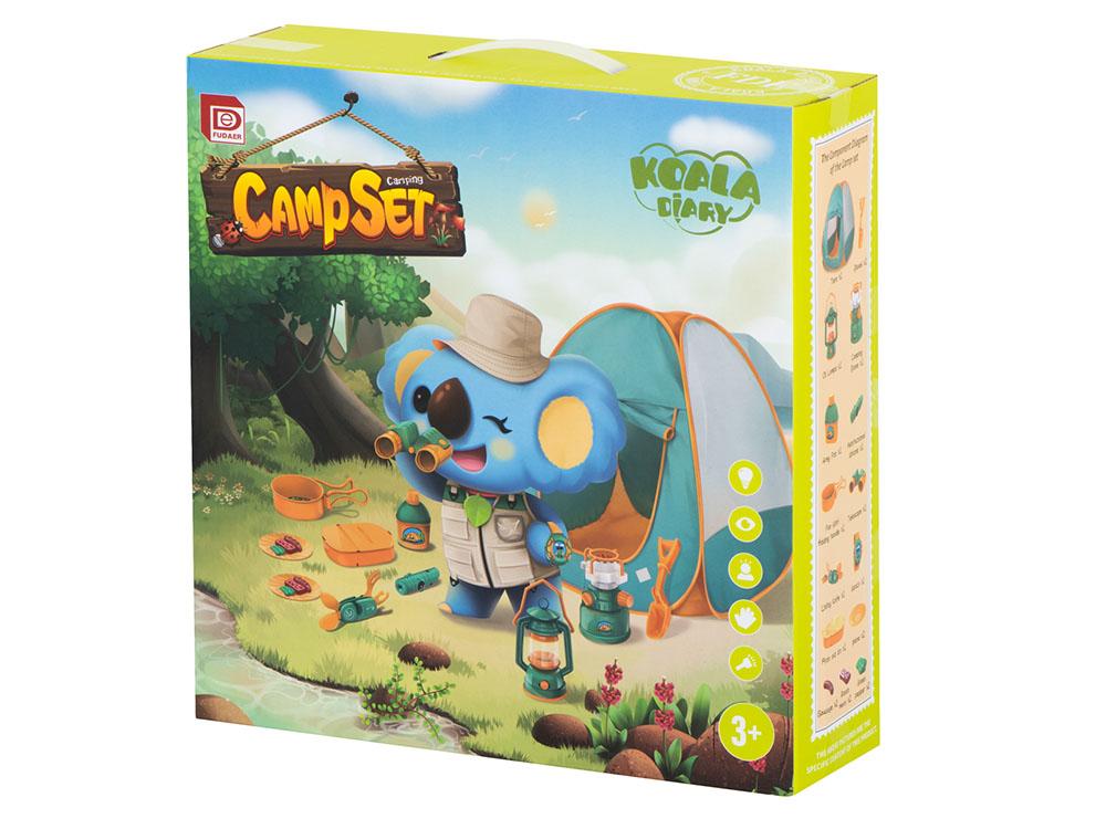 Namiot dla Dzieci Campingowy Piknikowy Ogrodowy z Akcesoriami Zielony - VivoSklep.pl 12