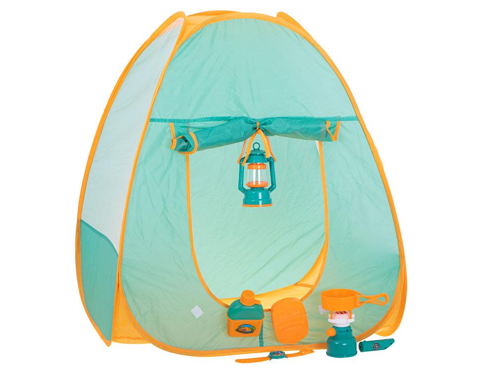 Namiot dla Dzieci Campingowy Piknikowy Ogrodowy z Akcesoriami Zielony - VivoSklep.pl 13