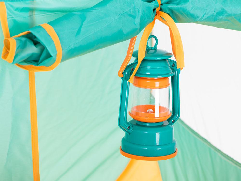 Namiot dla Dzieci Campingowy Piknikowy Ogrodowy z Akcesoriami Zielony - VivoSklep.pl 10