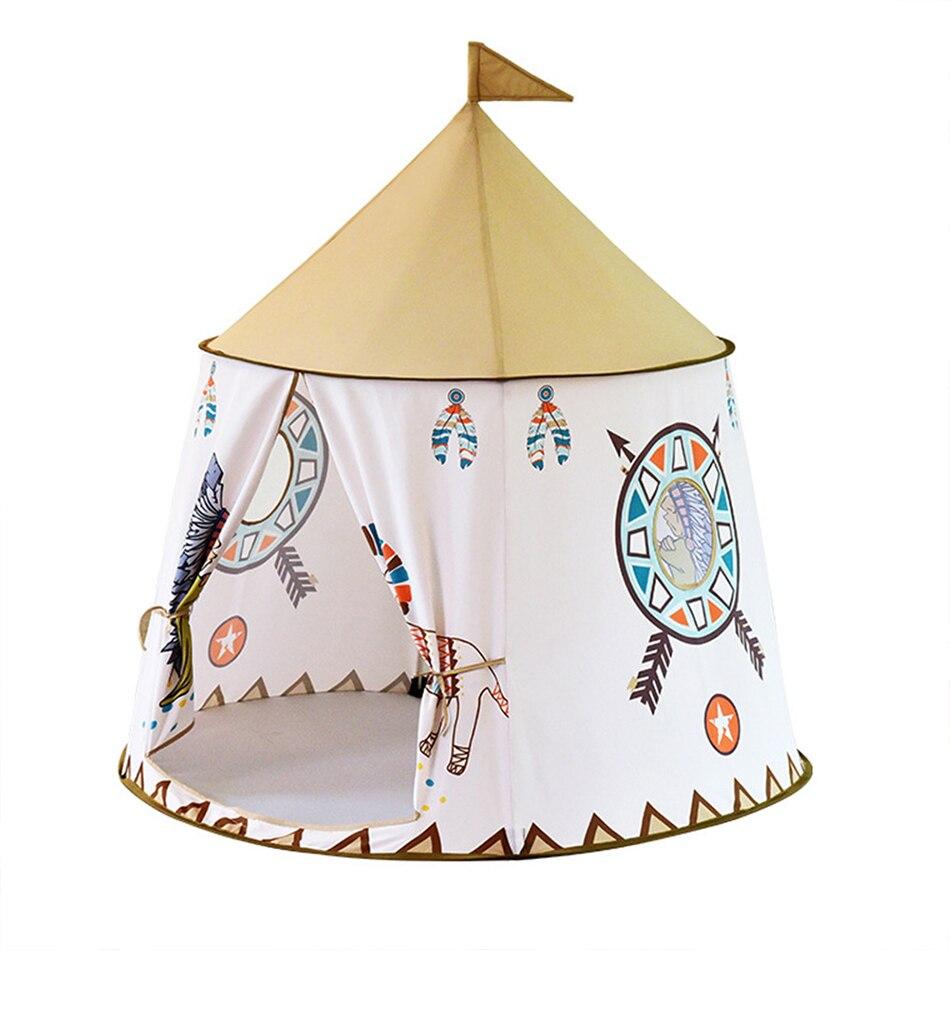 Namiot Domek dla Dzieci TIPI WIGWAM Indiański do Domu Ogrodu 110CM – VivoSklep.pl 2
