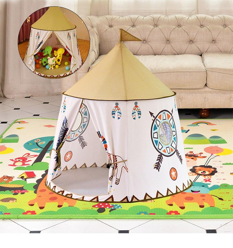 Namiot Domek dla Dzieci TIPI WIGWAM Indiański do Domu Ogrodu 110CM – VivoSklep.pl 1
