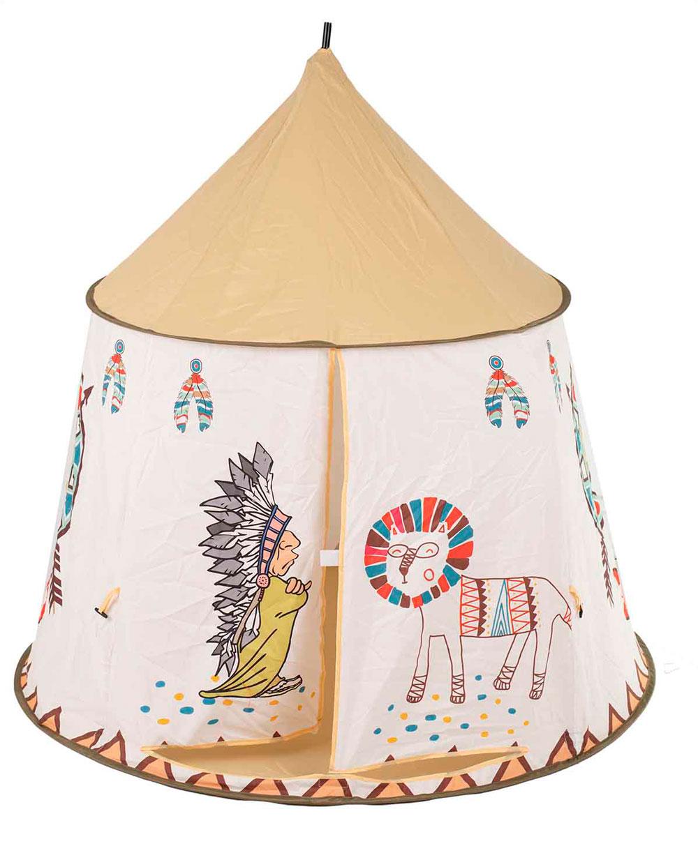 Namiot Domek dla Dzieci TIPI WIGWAM Indiański do Domu Ogrodu 110CM – VivoSklep.pl 5