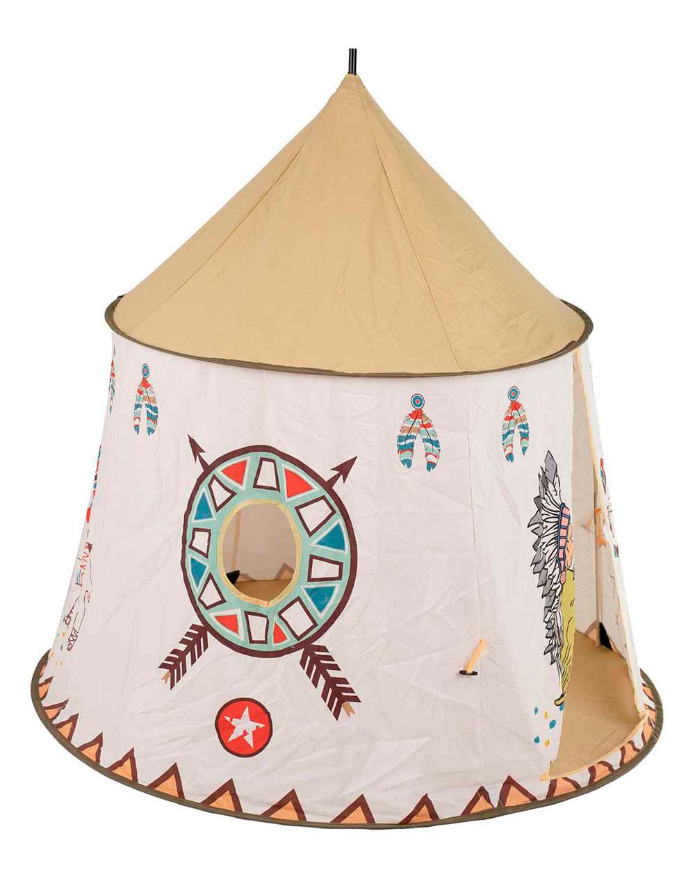 Namiot Domek dla Dzieci TIPI WIGWAM Indiański do Domu Ogrodu 110CM – VivoSklep.pl 4