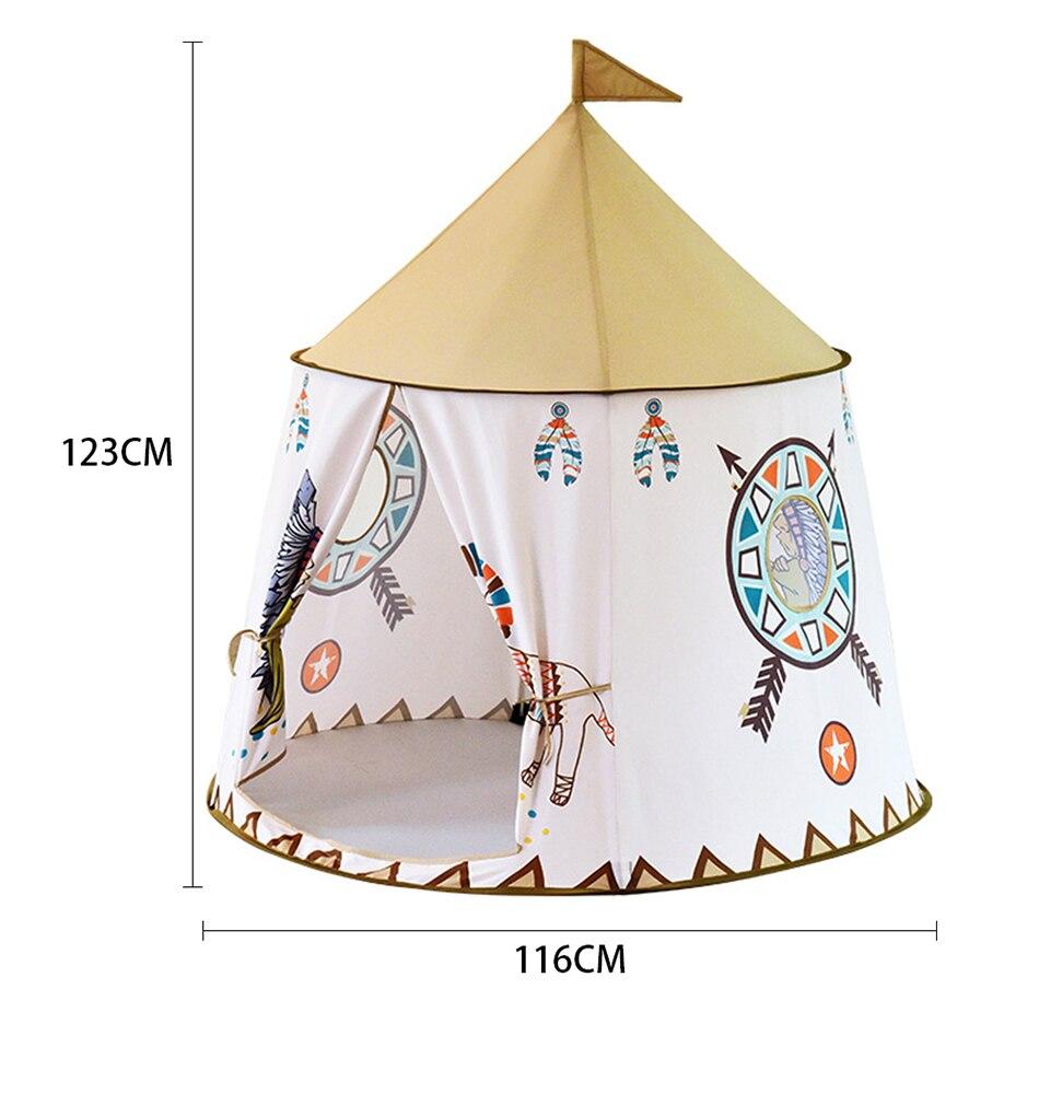 Namiot Domek dla Dzieci TIPI WIGWAM Indiański do Domu Ogrodu 110CM – VivoSklep.pl 6