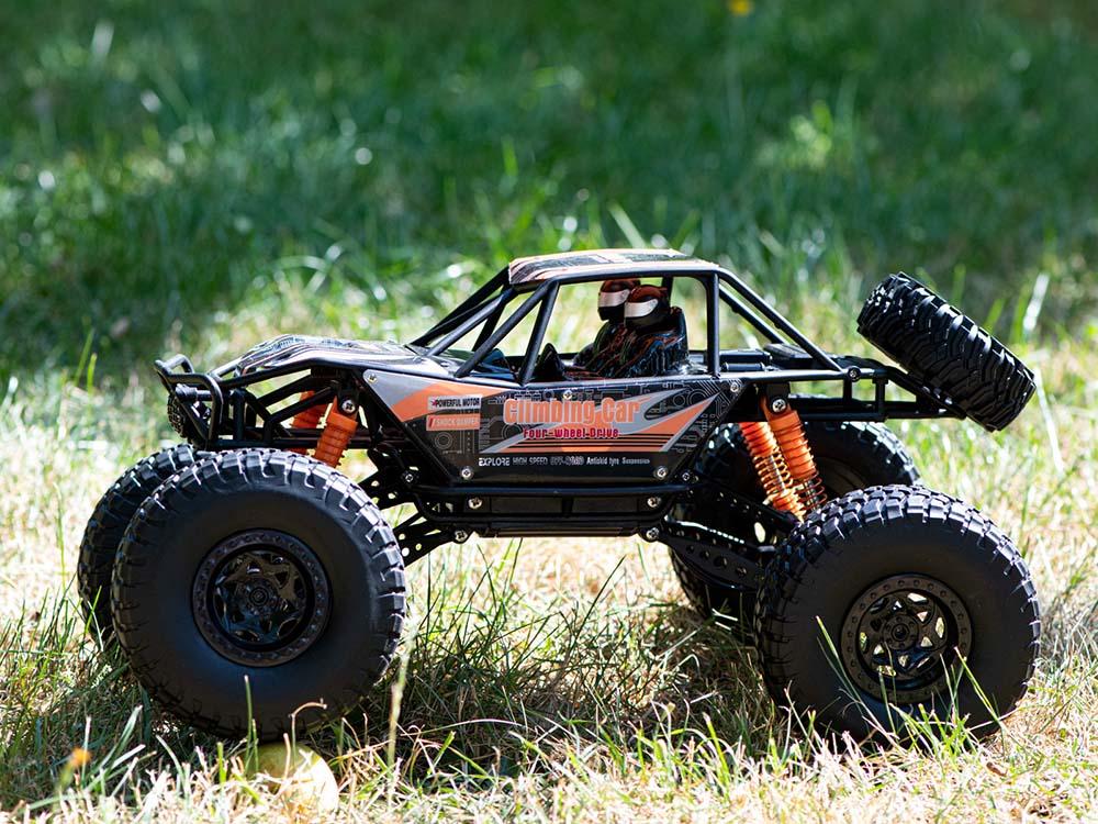 Samochód RC CRAWLER CLIMBING CAR Sterowany Terenowy Duży 48CM 1:10 Pomarańczowy - VivoSklep.pl 14