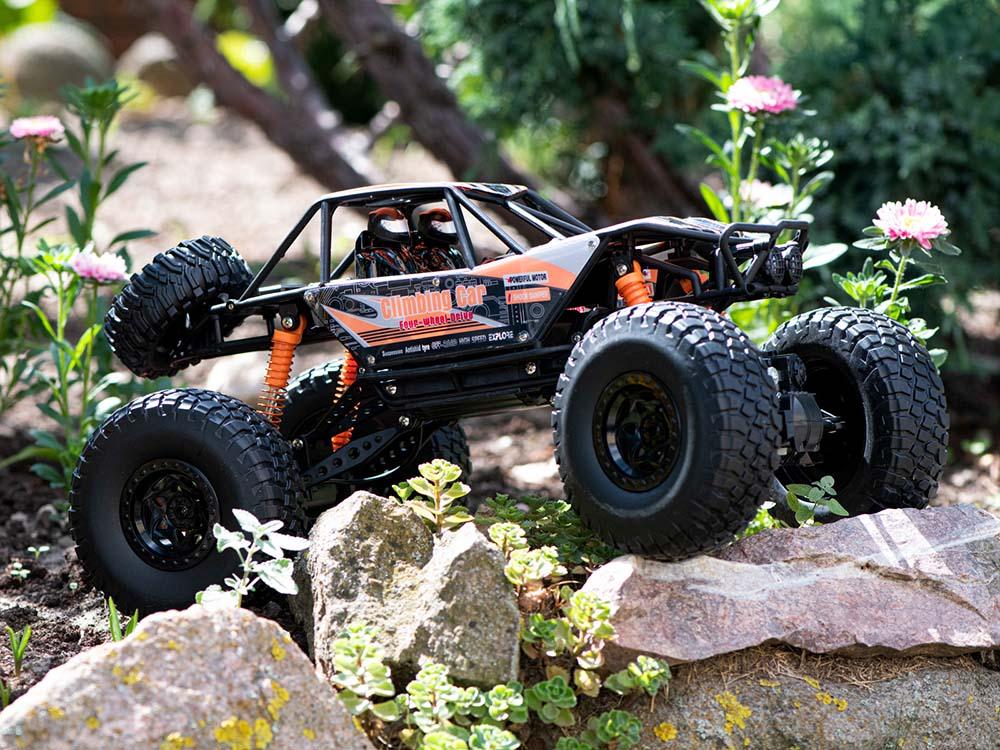 Samochód RC CRAWLER CLIMBING CAR Sterowany Terenowy Duży 48CM 1:10 Pomarańczowy - VivoSklep.pl 15
