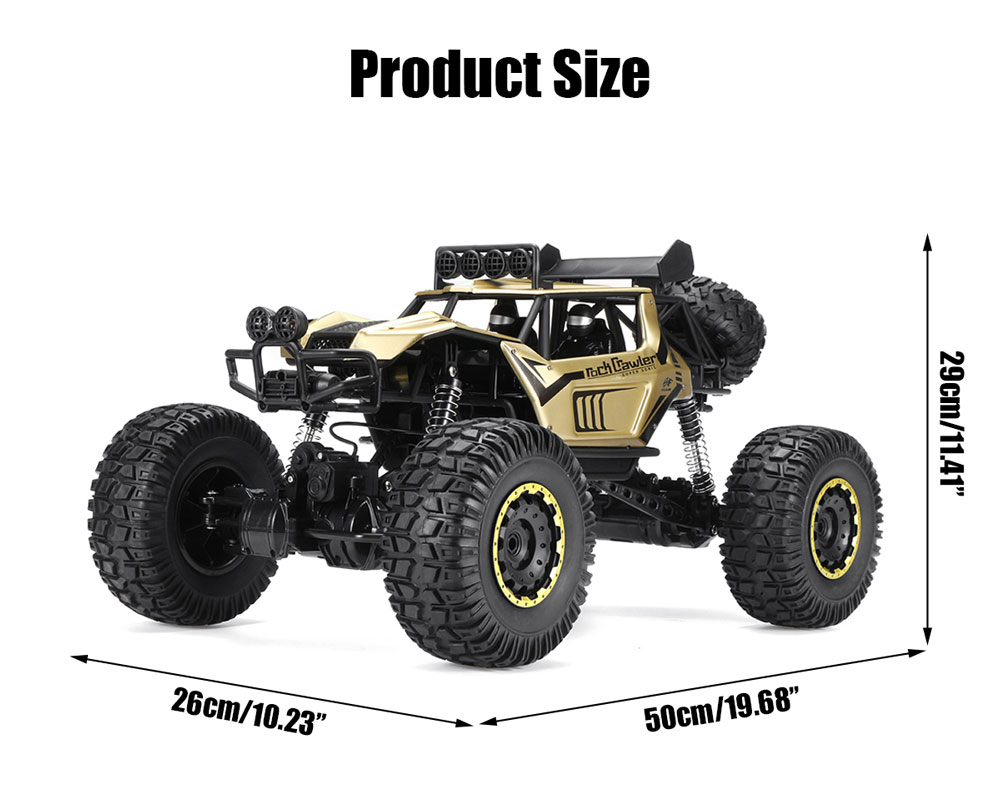 Samochód RC ROCK CRAWLER Buggy Duży 51cm 1:8 Metalowy 2028 E19256 Złoty - VivoSklep.pl 10