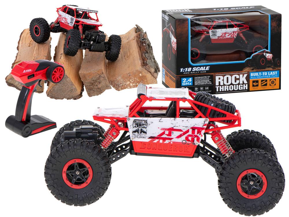Samochód RC ROCK CRAWLER HB Toys 1:18 Terenowy Zdalnie Sterowany 2,4Ghz Czerwony - VivoSklep.pl 1