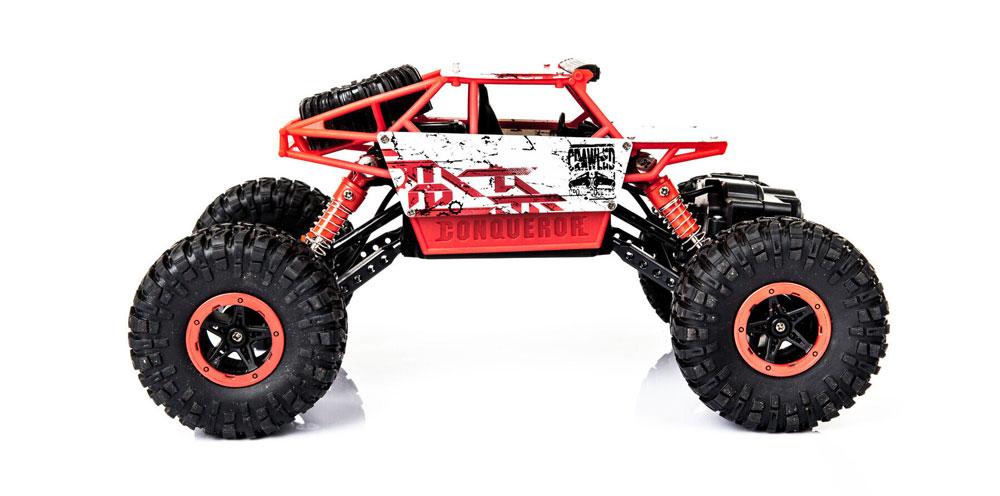 Samochód RC ROCK CRAWLER HB Toys 1:18 Terenowy Zdalnie Sterowany 2,4Ghz Czerwony - VivoSklep.pl 3