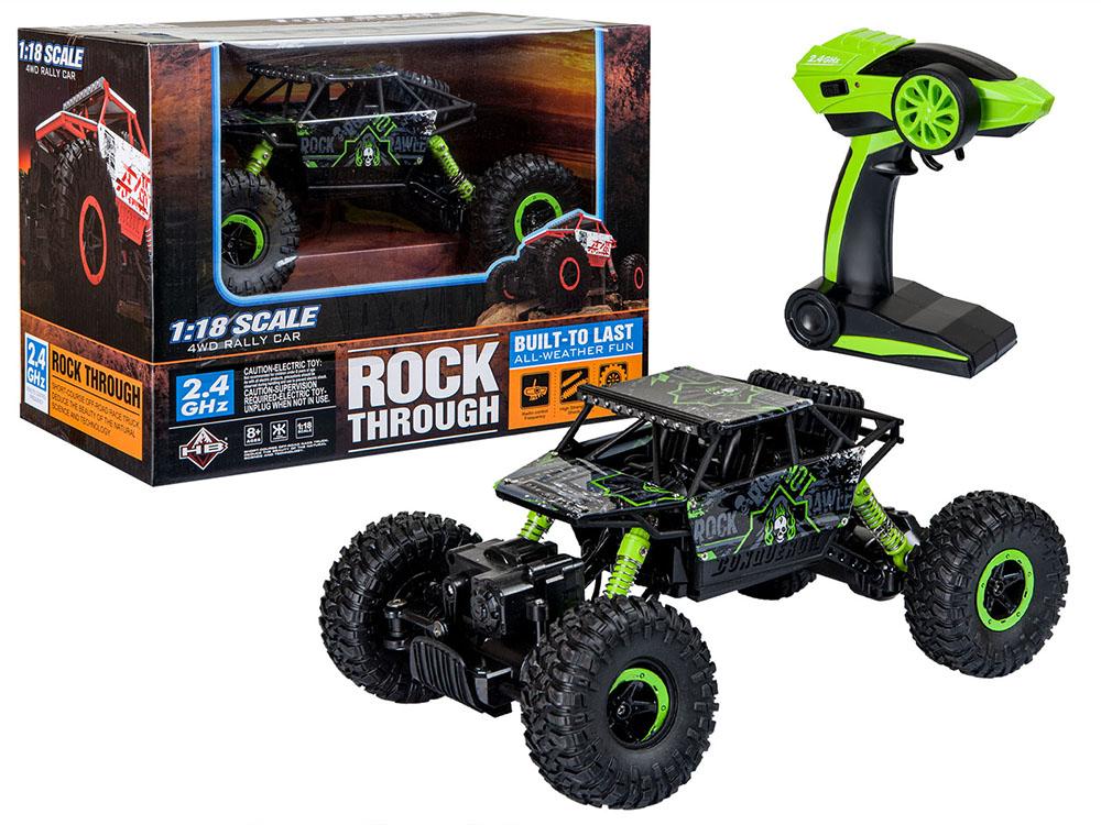 Samochód RC ROCK CRAWLER HB Toys 1:18 Terenowy Zdalnie Sterowany 2,4Ghz Zielony – VivoSklep.pl 1