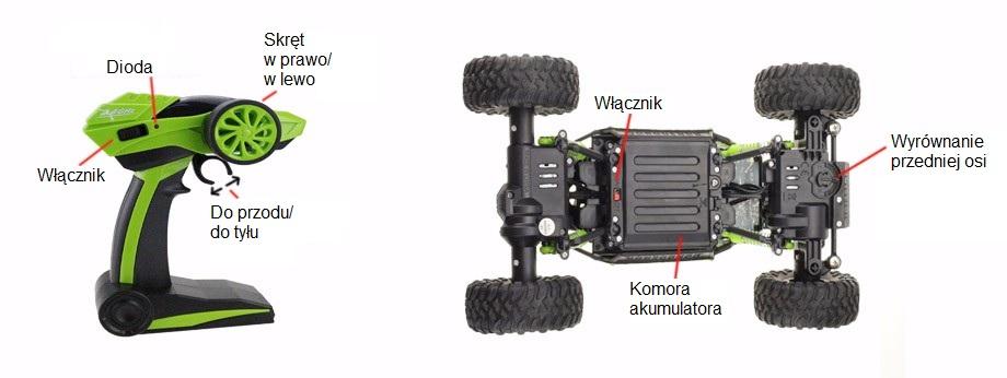 Samochód RC ROCK CRAWLER HB Toys 1:18 Terenowy Zdalnie Sterowany 2,4Ghz Zielony – VivoSklep.pl 7