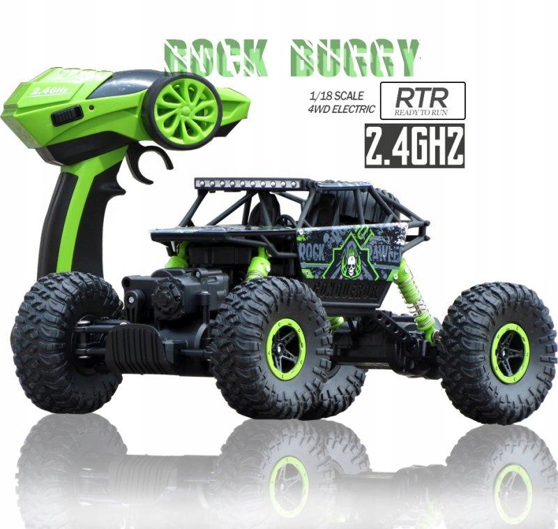 Samochód RC ROCK CRAWLER HB Toys 1:18 Terenowy Zdalnie Sterowany 2,4Ghz Zielony – VivoSklep.pl 4