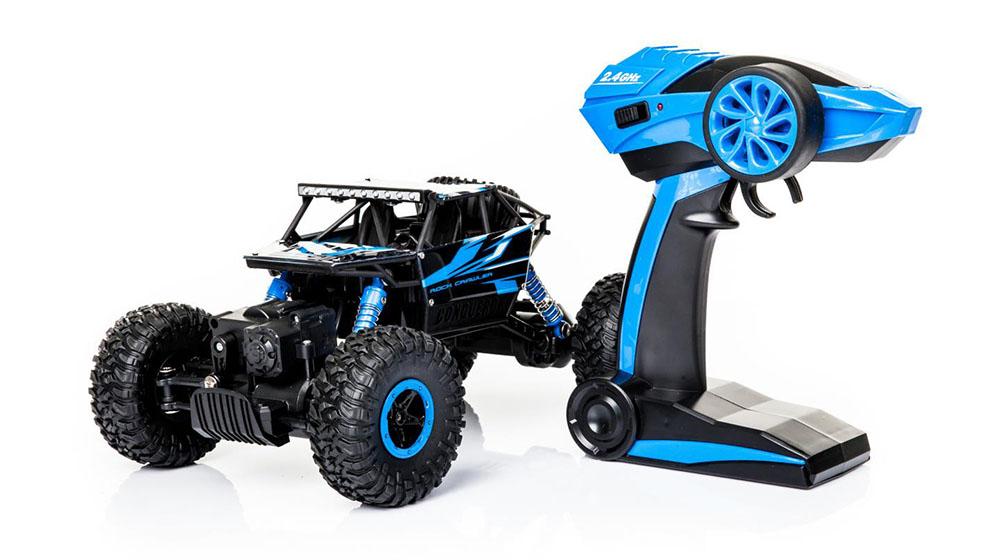 Samochód RC ROCK CRAWLER HB Toys 1:18 Zdalnie Sterowany Dwusilnikowy 2,4Ghz Niebieski - VivoSklep.pl 21