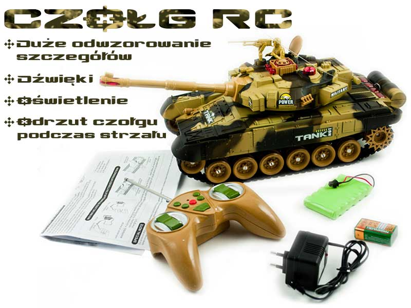 Czołg RC 9995 Big War Tank Duży Zdalnie Sterowany 2,4 Ghz - VivoSklep.pl 1