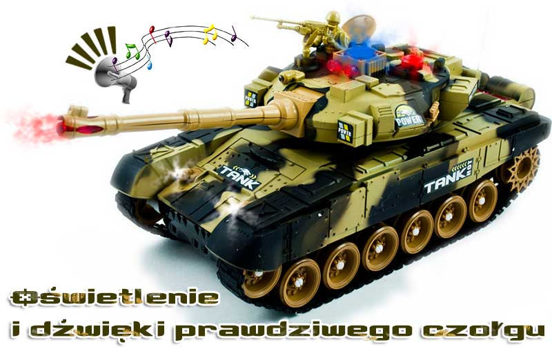 Czołg RC 9995 Big War Tank Duży Zdalnie Sterowany 2,4 Ghz - VivoSklep.pl 6