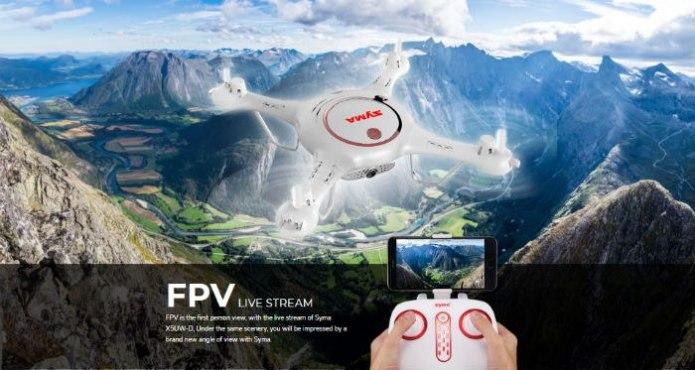Dron SYMA X5UW-D Funkcjonalny Quadrocopter RC z Kamerą - VivoSklep.pl 4