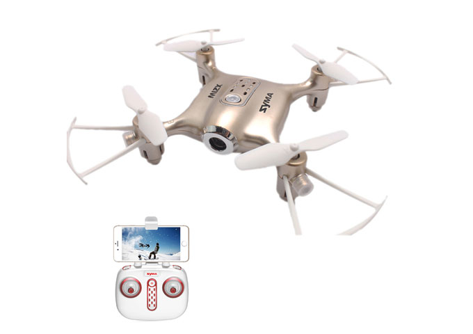 Dron SYMA X21W Miniaturowy RC Quadrocopter z Kamerą FPV Wi-Fi - VivoSklep.pl 1